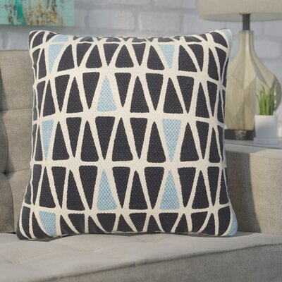 Eicher Cotton Throw Pillow Color: Winter White/Total Eclipse