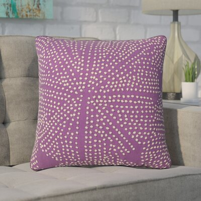 Faulks Passion Cotton Throw Pillow Color: Purple
