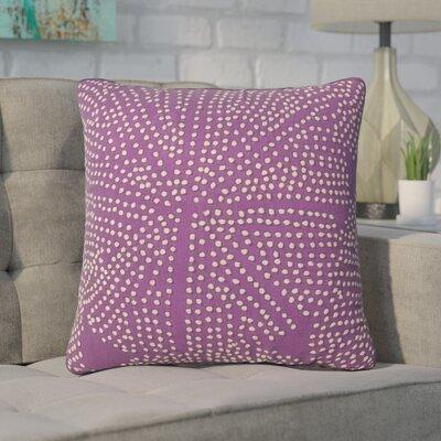 Faulks Passion Cotton Throw Pillow Color: Purple