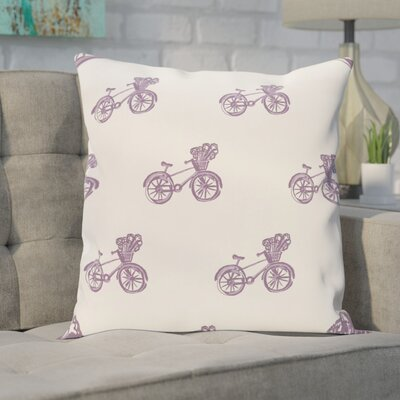 Chesser Geometric Print Outdoor Pillow Color: Hyacinth, Size: 18 H x 18 W x 1 D