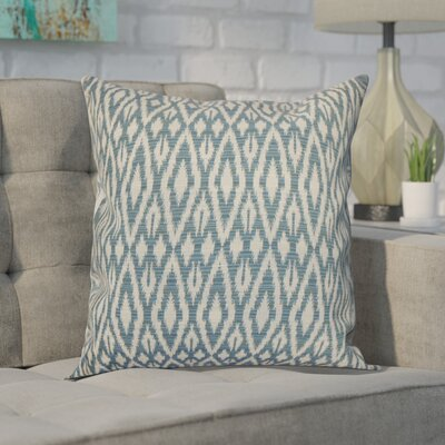 Erskine 100% Cotton Throw Pillow Color: Denim, Size: 18x18