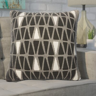 Eicher Cotton Throw Pillow Color: Steel Gray/Caviar