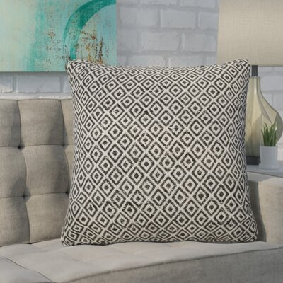 Espino Tribal Pattern Throw Pillow Color: Ivory/Black