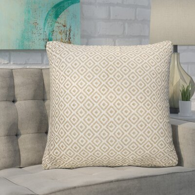 Espino Tribal Pattern Throw Pillow Color: Ivory / Taupe