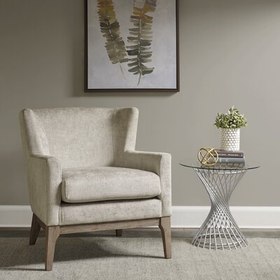 Donohue Wingback Chair Upholstery: Cream