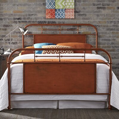 Cassiopeia Panel Bed Size: King, Color: Orange
