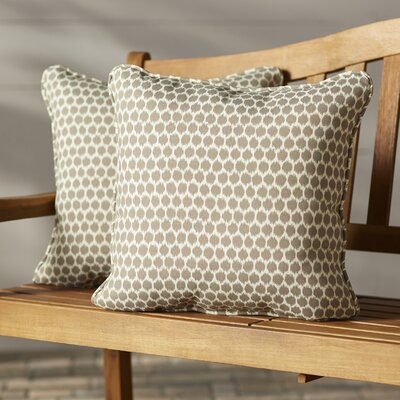 Eris Outdoor Throw Pillow Fabric: Sterling