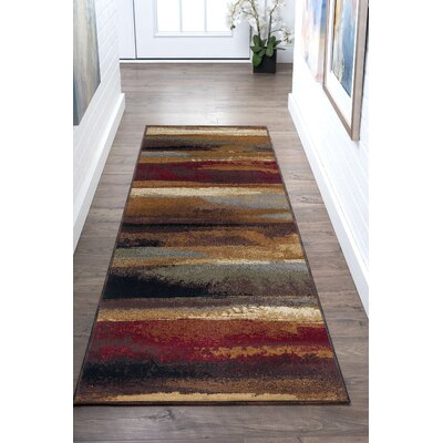 Hartle Brown/Beige Area Rug Rug Size: Runner 2 x 8