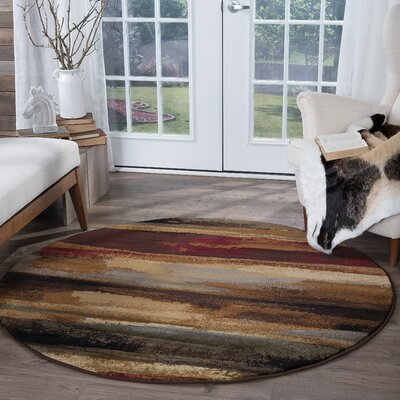 Soares Multi-Colored Area Rug Rug Size: Round 53