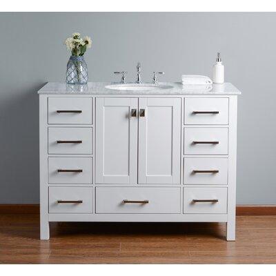 Ankney 48 Single Bathroom Vanity Set Base Finish: Pure White