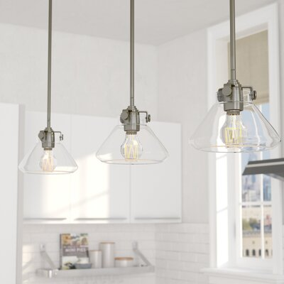 Bunnell 1-Light Metal Mini Pendant Finish: Antique Nickel