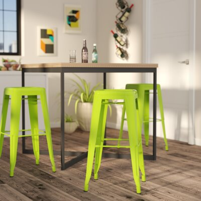 Wafford 30 Bar Stool Upholstery: Green