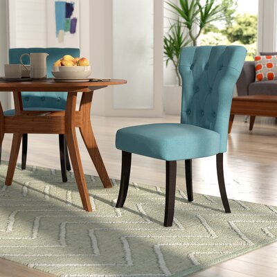 Vangilder Parsons Upholstered Dining Chair Upholstery Color: Blue