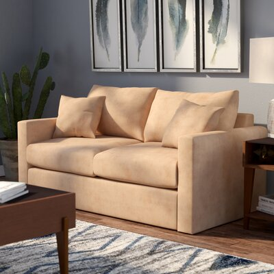 Ardencroft Sleeper Sofa Upholstery: Obsessions Cappuchino, Size: Twin, Mattress Type: Memory Foam