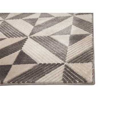 Teegarden Charcoal Area Rug Rug Size: 5 x 8