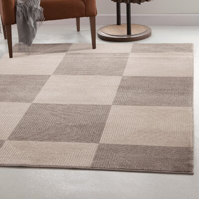 Teegarden Zen Charcoal/Ivory Area Rug Rug Size: 5 x 8
