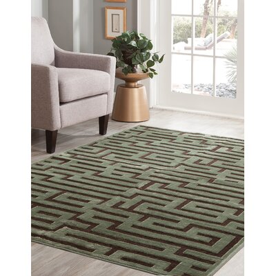 Teague Seafoam/Charcoal Area Rug Rug Size: 710 x 112