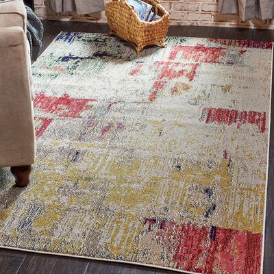 Ned Beige Neutral Area Rug Rug Size: 5 x 8