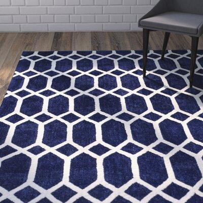 Debellis Blue Area Rug Rug Size: 8 x 10