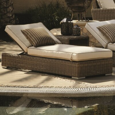 Hasler Chaise Lounge with Cushion Fabric: Canvas Antique Beige