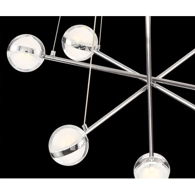 Mya Modern 8-Light LED Sputnik Chandelier