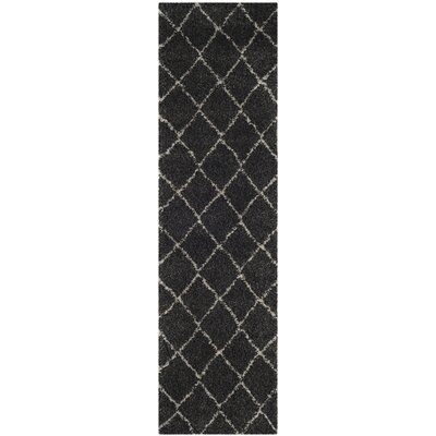 Elbridge Black Area Rug Rug Size: Runner 23 x 8
