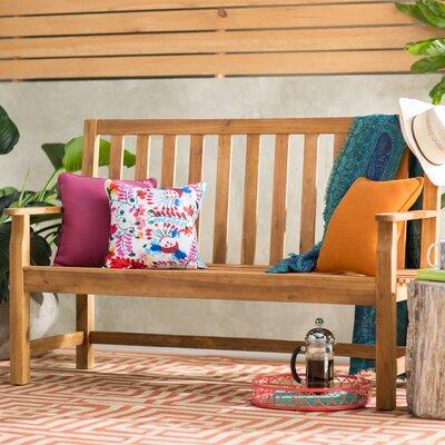 Indaka Acacia Wood Garden Bench Color: Natural