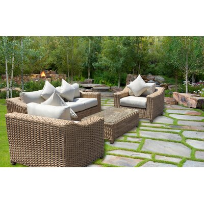 Churchill Deluxe 6 Piece Deep Seating Group with Cushion