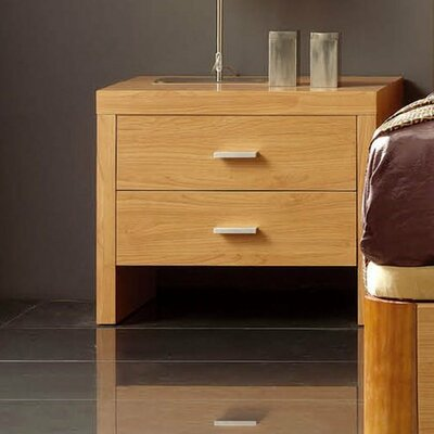 Kayli 2 Drawer Nightstand Color: Cherry