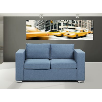 Holahan Loveseat Finish: Blue
