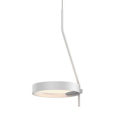 Tayler 1-Light LED Mini Pendant Finish: Satin Black/Apricot