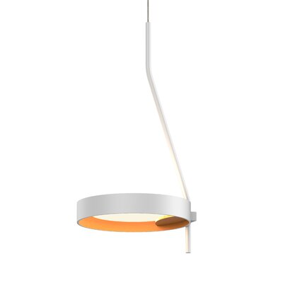 Tayler 1-Light LED Mini Pendant Finish: Satin White/Apricot