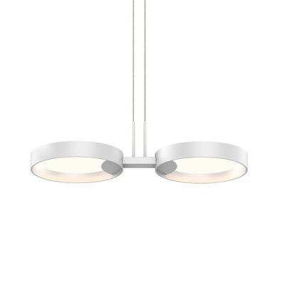 Tayler 2-Light LED Design Pendant Finish: Satin Black/Apricot