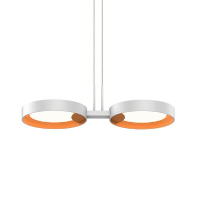 Tayler 2-Light LED Design Pendant Finish: Satin White/Apricot