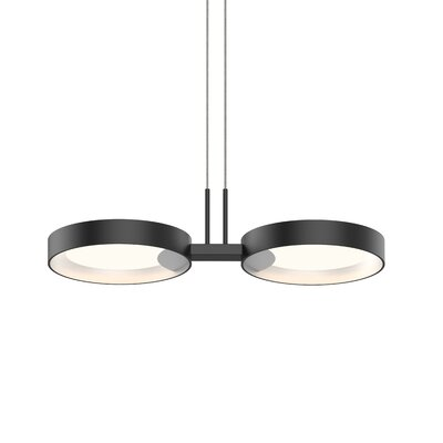 Tayler 2-Light LED Design Pendant Finish: Satin Black/White