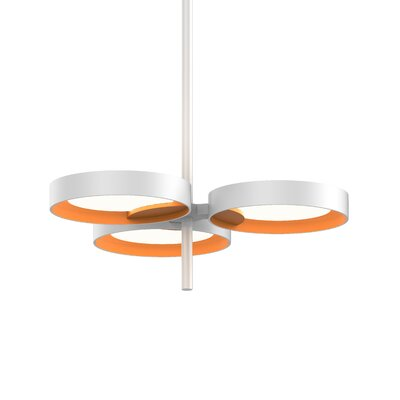 Tayler 3-Light LED Design Pendant Finish: Satin White/Apricot