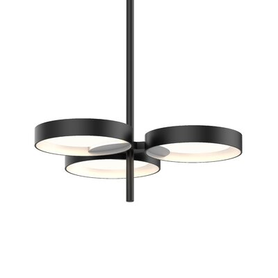 Tayler 3-Light LED Design Pendant Finish: Satin Black/White