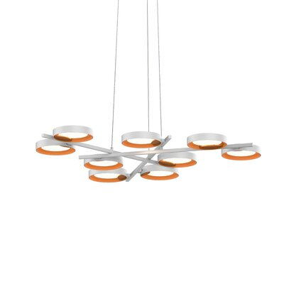 Tayler 9-Light LED Design Pendant Finish: Satin White/Apricot