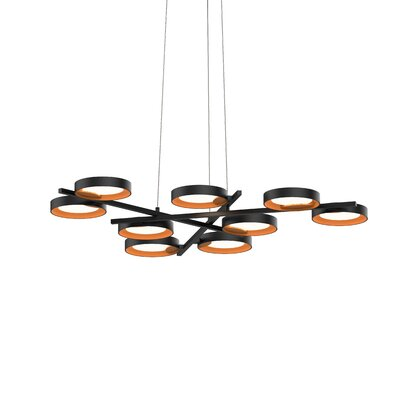 Tayler 9-Light LED Design Pendant Finish: Satin White/White