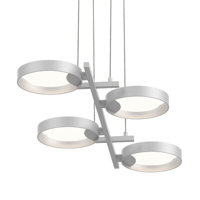 Tayler 4-Light LED Design Pendant Finish: Satin White/White
