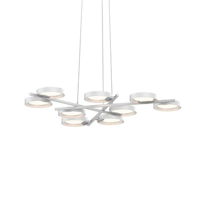 Tayler 9-Light LED Design Pendant Finish: Satin Black/Apricot
