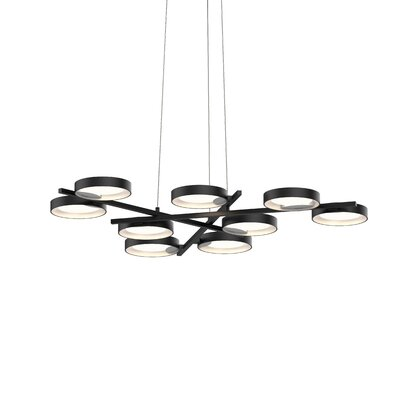 Tayler 9-Light LED Design Pendant Finish: Satin Black/White
