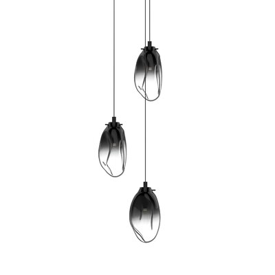 Tierra 3-Light Cluster Pendant Finish: Smoke Fade, Size: 10.75 H x 14 W x 14 D