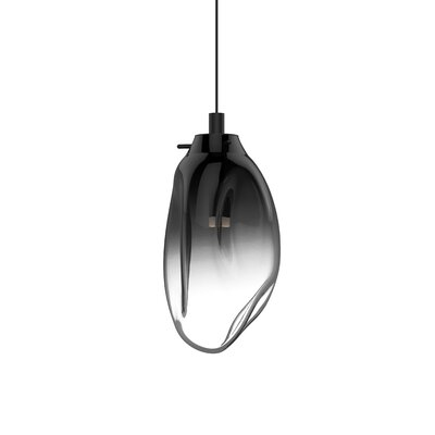 Tierra 1-Light Mini Pendant Shade Finish: Smoke Fade, Size: 10.75 H x 6 W x 6 D