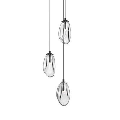 Tierra 3-Light Cluster Pendant Finish: Clear, Size: 10.75 H x 14 W x 14 D