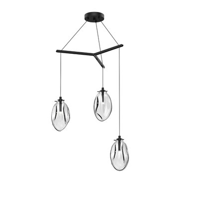Tierra Tri-Spreader 3-Light LED Cascade Pendant Finish: Clear