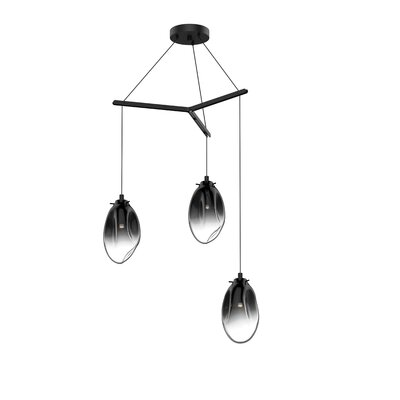 Tierra Tri-Spreader 3-Light Cluster Pendant Finish: Smoke Fade