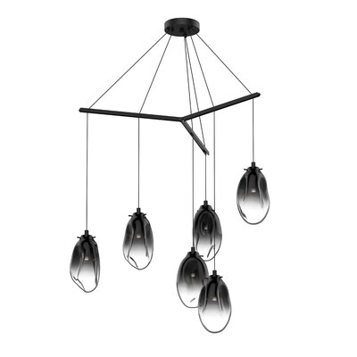 Tierra Tri-Spreader 6-Light LED Cascade Pendant Shade Finish: Smoke Fade