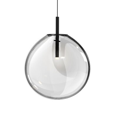 Haleigh 1-Light Globe Pendant Shade Finish: Clear, Size: 18.75 H x 15 W x 4.5 D