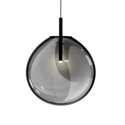 Haleigh 1-Light Globe Pendant Shade Finish: Smoke Fade, Size: 18.75 H x 15 W x 4.5 D